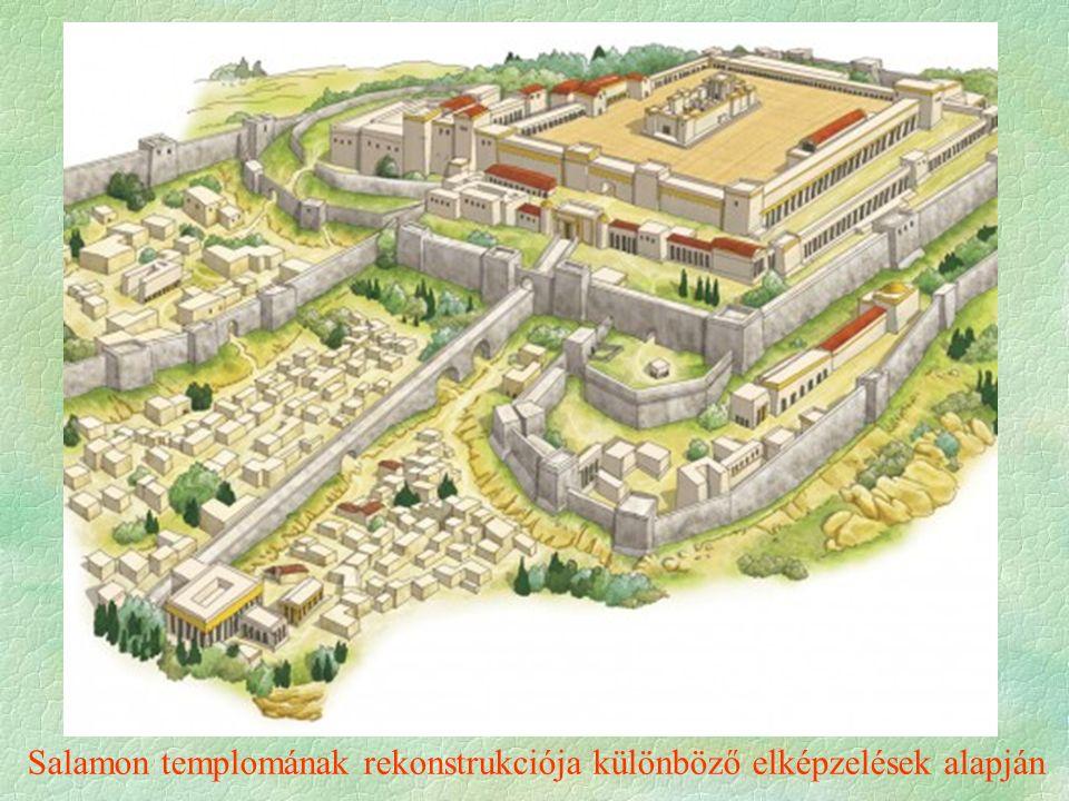 Salamon templomának rekonstrukciója különböző elképzelések alapján