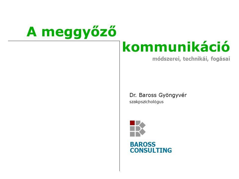Copyright © 2011 Baross Consulting Köszönjük a figyelmüket Baross Consulting