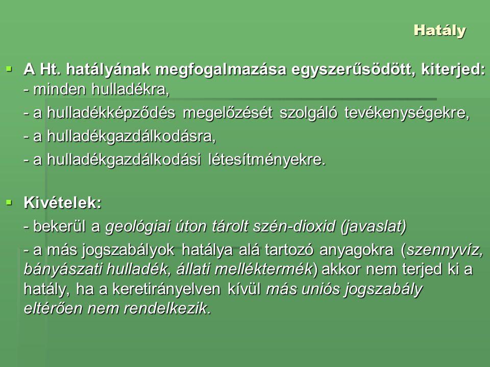Hatály  A Ht.