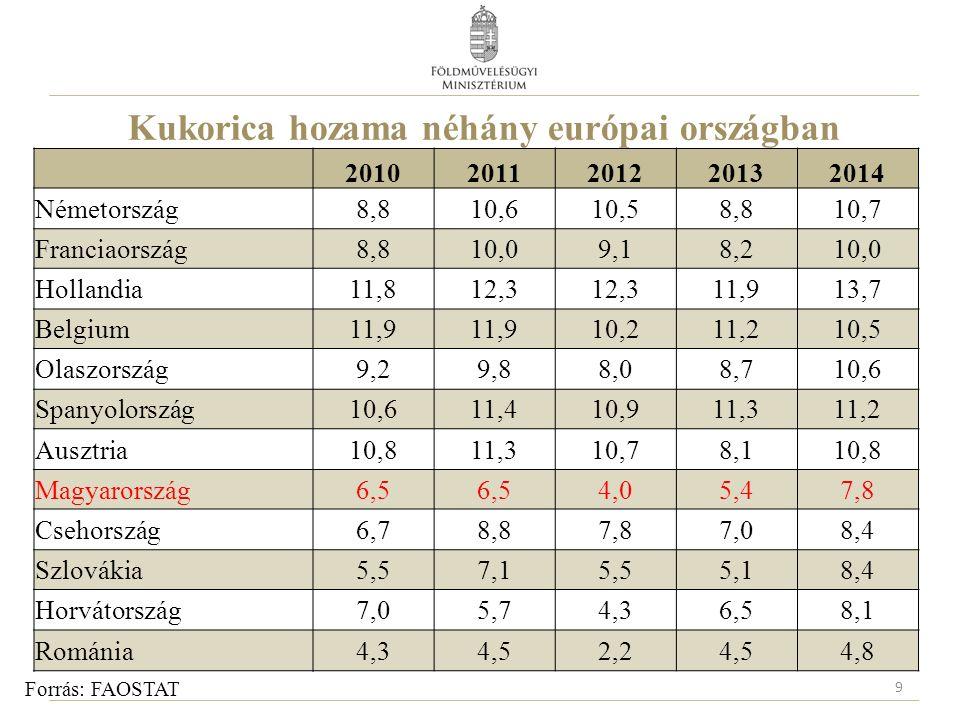 Búza hazai hozamának heterogenitása Forrás: Tesztüzemi ágazati adatok alapján az AKI Ágazati Költség- és Jövedeleminformációs Osztályán készült számítások 10 Mérték egység Termésátlag megoszlása Alsó 10 % Centrumnál alacsonyabb érték Hozam centrum (átlag±10 %) Centrumnál magasabb értékFelső 10% Átlaghozamtonna/ha 3,03,85,16,67,4 Vetésterület szerinti megoszlás % 11,235,033,032,012,5 Termékmen nyiség megoszlás % 6,625,932,841,318,0