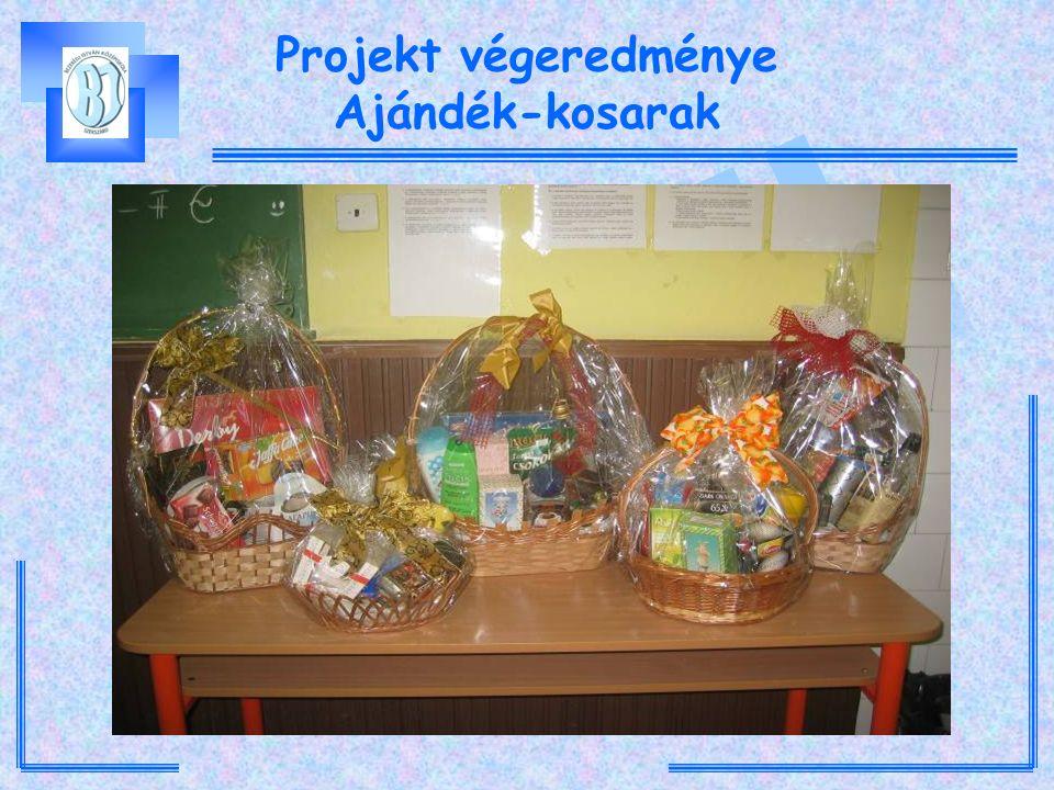 Projekt végeredménye Ajándék-kosarak