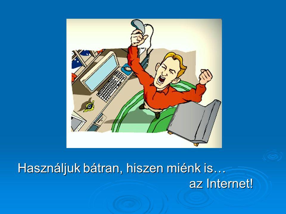 Használjuk bátran, hiszen miénk is… az Internet!