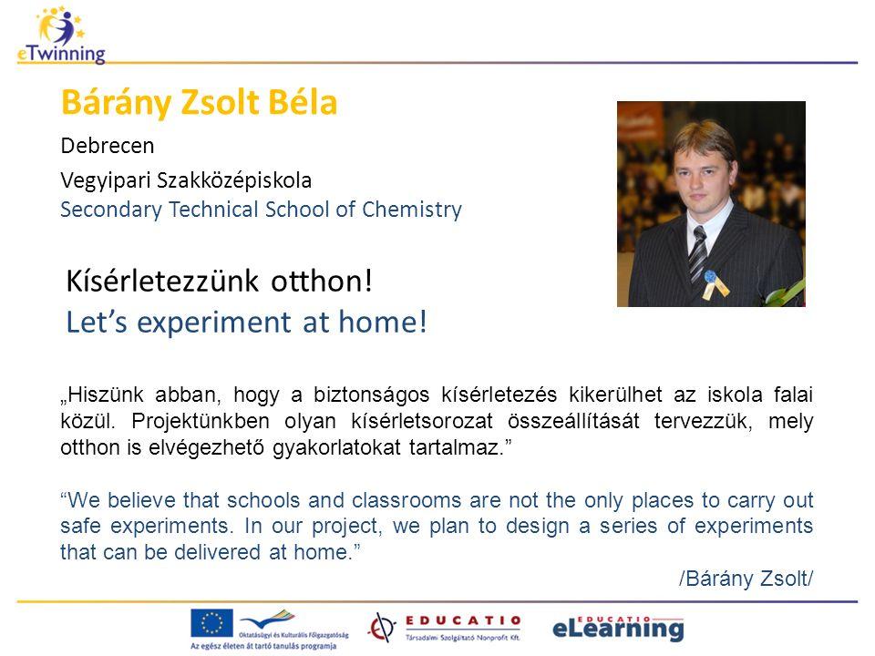 Kísérletezzünk otthon. Let's experiment at home.