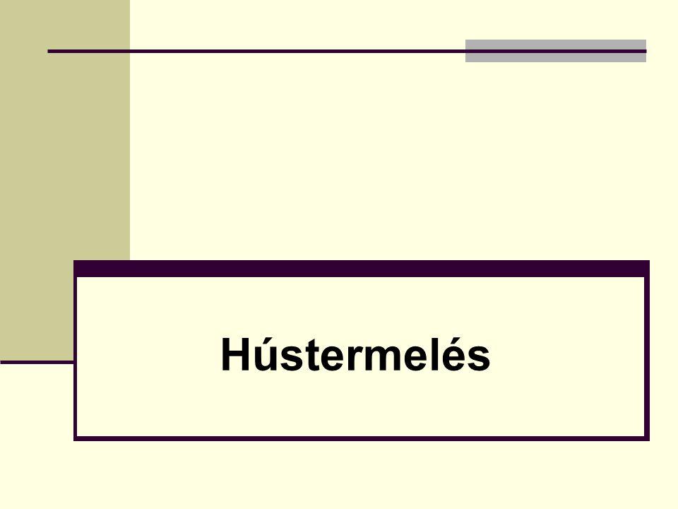 Porhanyósság – omlósság (Élvezeti érték) Az izom típusa (rost / kötőszövet = textúra) Vágás előtti tényezők: faj/fajta jellegéből származó azaz örökletes tényezők; tartási és takarmányozási faktorok: a takarmány összetétel; technológiák, állatszállítás körülményei.