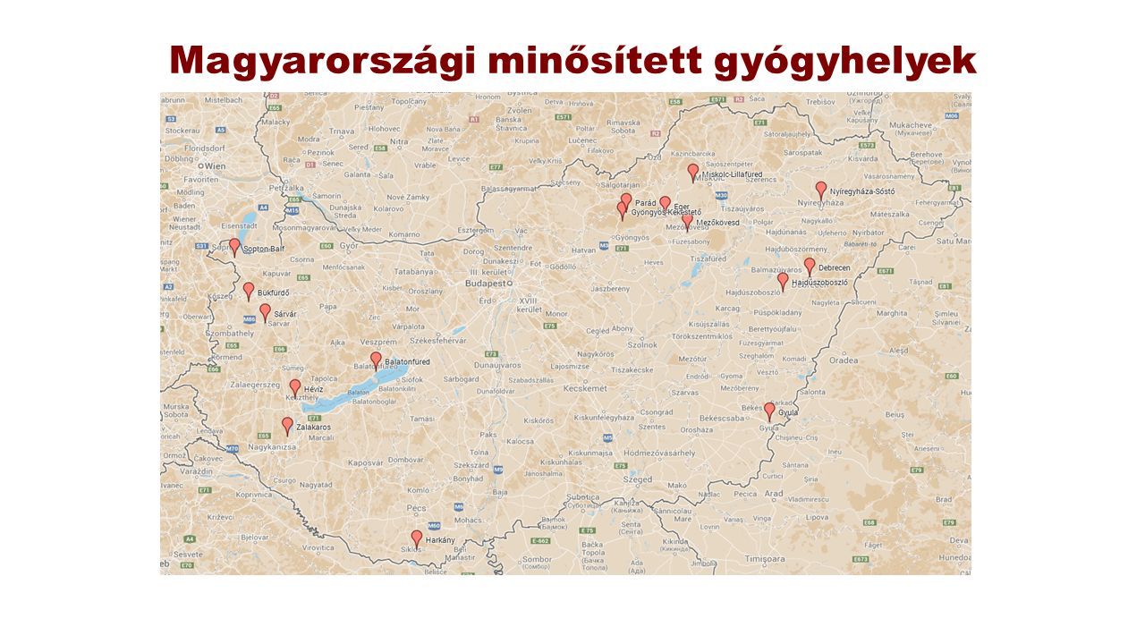 Magyarországi minősített gyógyhelyek