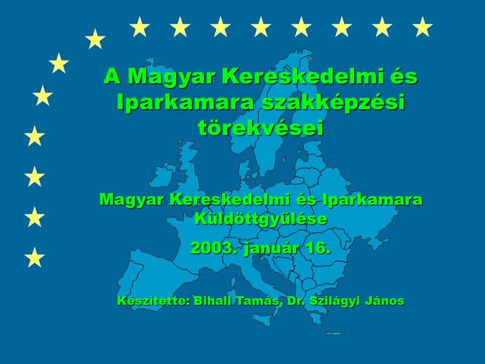 A Magyar Kereskedelmi és Iparkamara szakképzési törekvései Magyar Kereskedelmi és Iparkamara Küldöttgyűlése 2003.