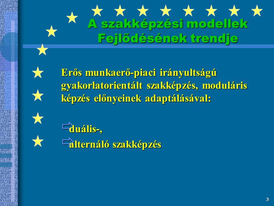 2 Magyarország Európai Uniós Csatlakozása - Új kihívások és válaszok  eurokonform minőség a szakképzésben  kamarák szerepvállalása - felelőssége  szakképzés - foglalkoztatási rendszer összhangja  ifjúsági munkanélküliség kezelése  Magyarország 15-20 év alatt érje utol az európai fejlettségi átlagot