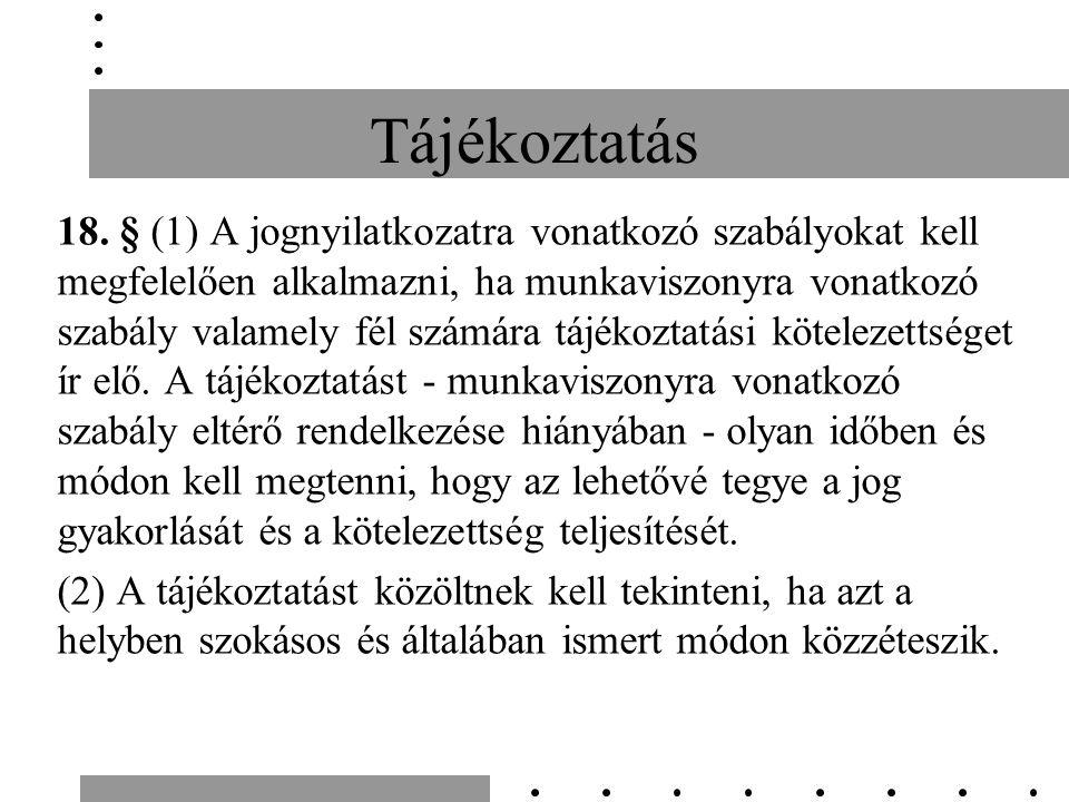 Tájékoztatás 18.