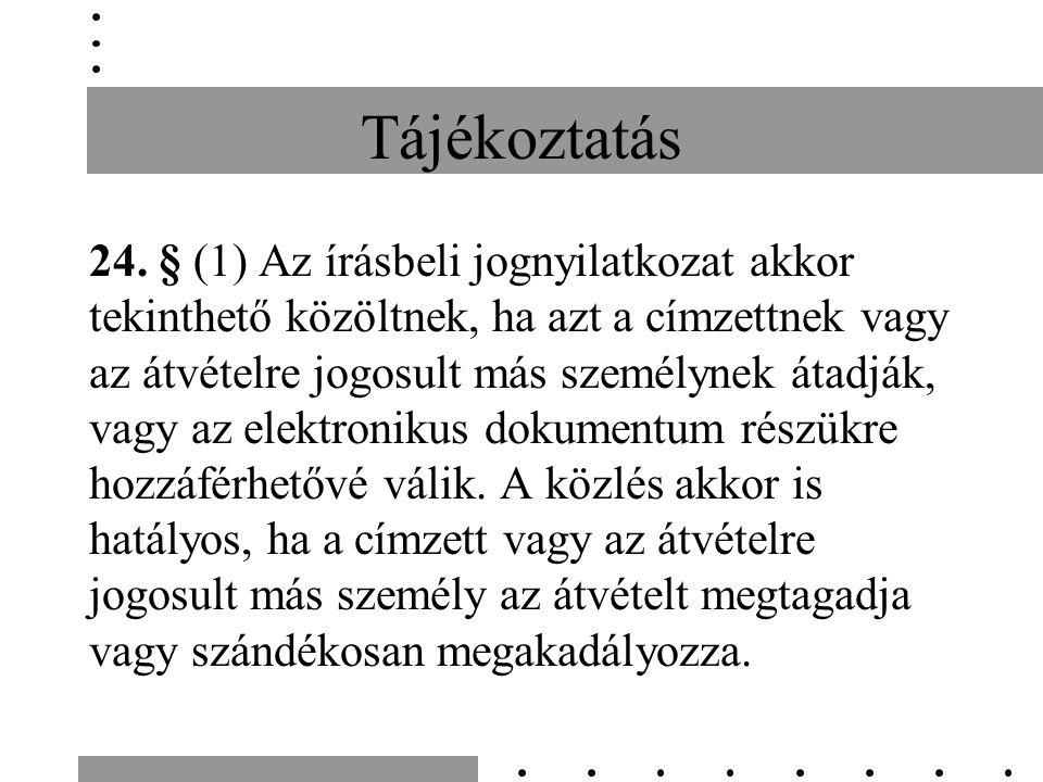 Tájékoztatás 24.