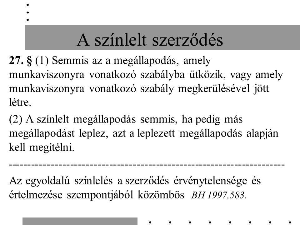 A színlelt szerződés 27.