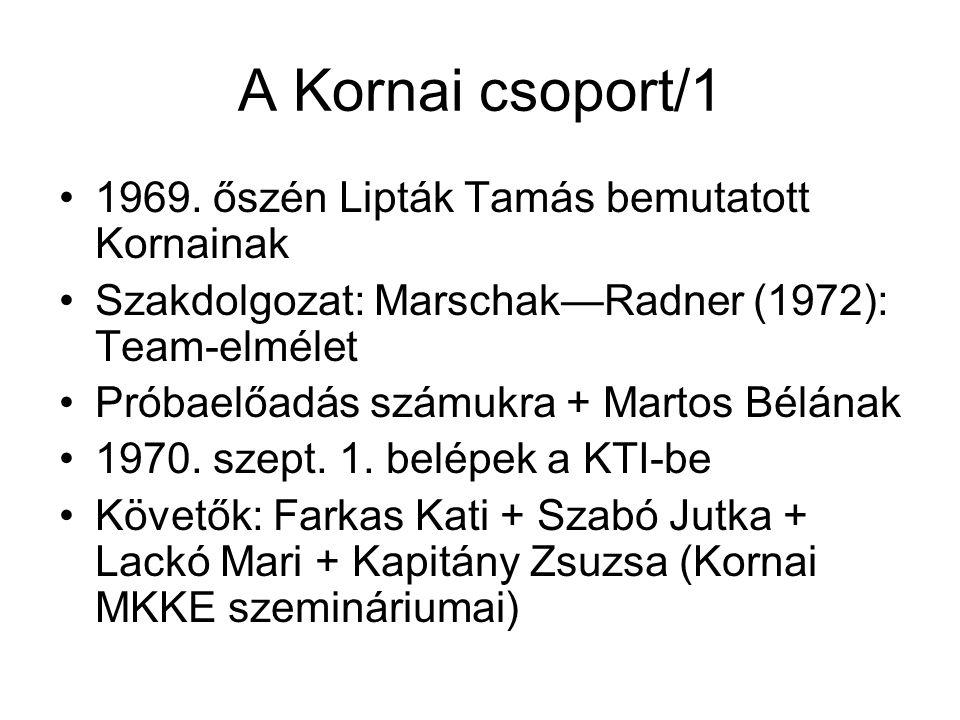 A Kornai csoport/1 1969.