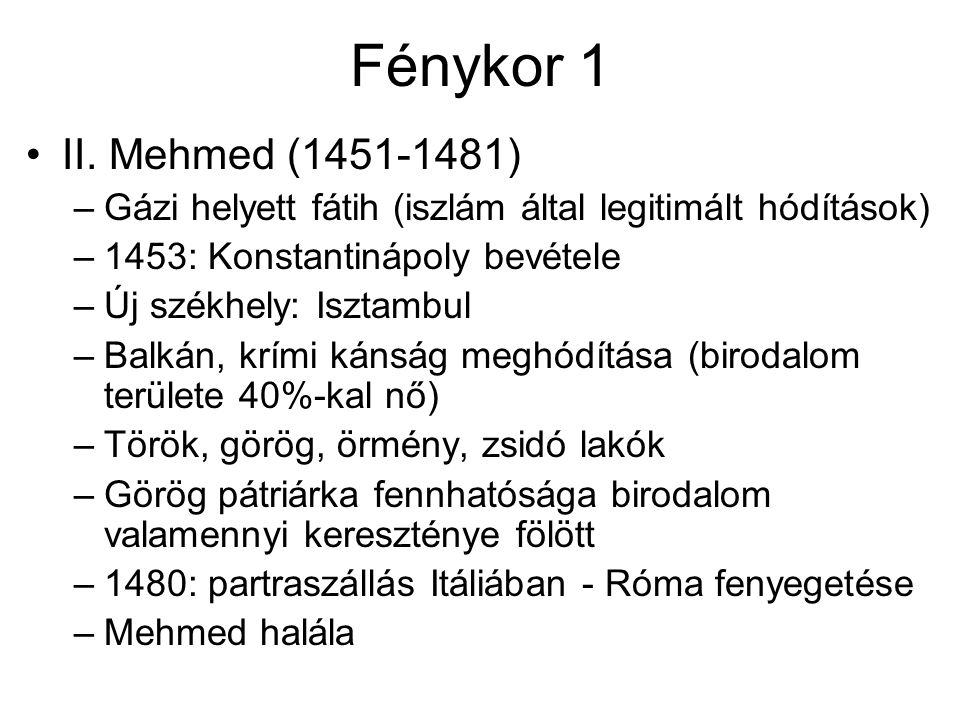 Fénykor 1 II.