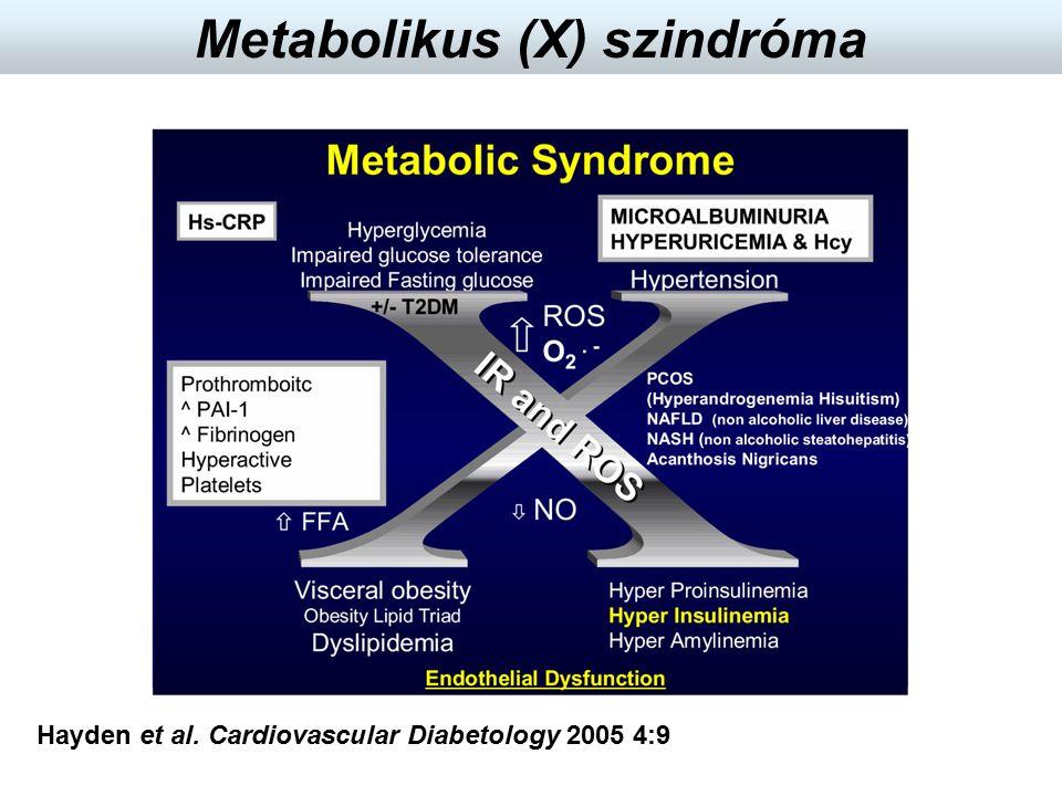 Hayden et al. Cardiovascular Diabetology 2005 4:9 Metabolikus (X) szindróma