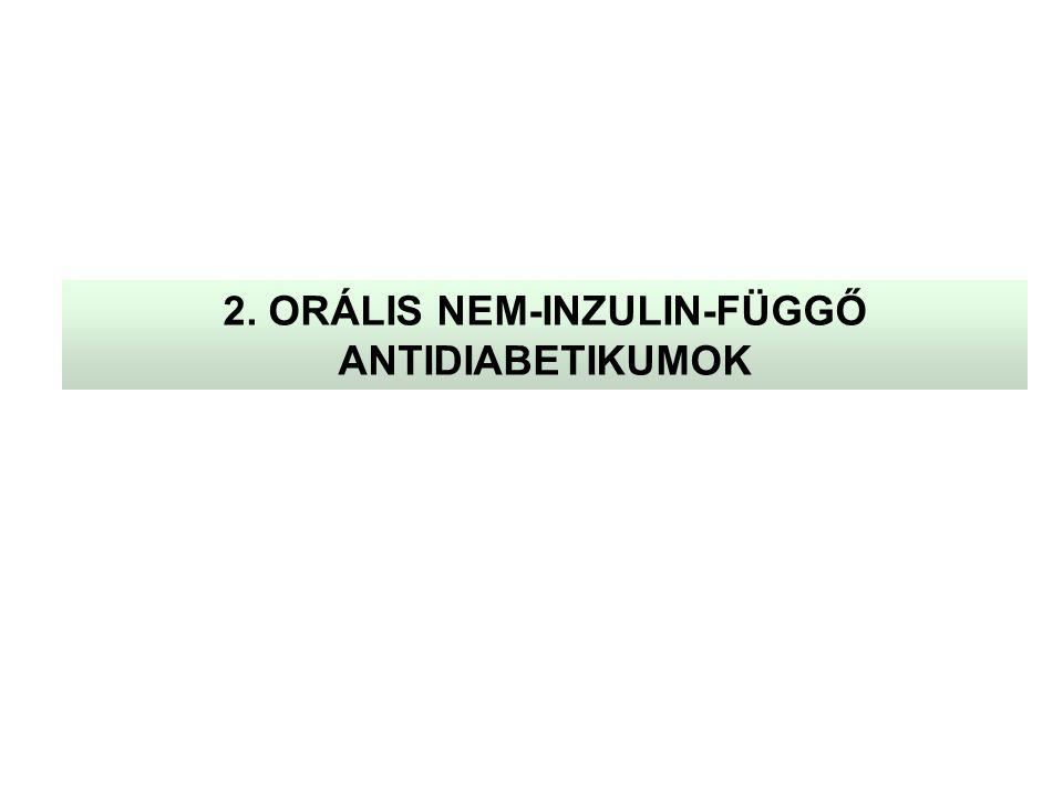 2. ORÁLIS NEM-INZULIN-FÜGGŐ ANTIDIABETIKUMOK