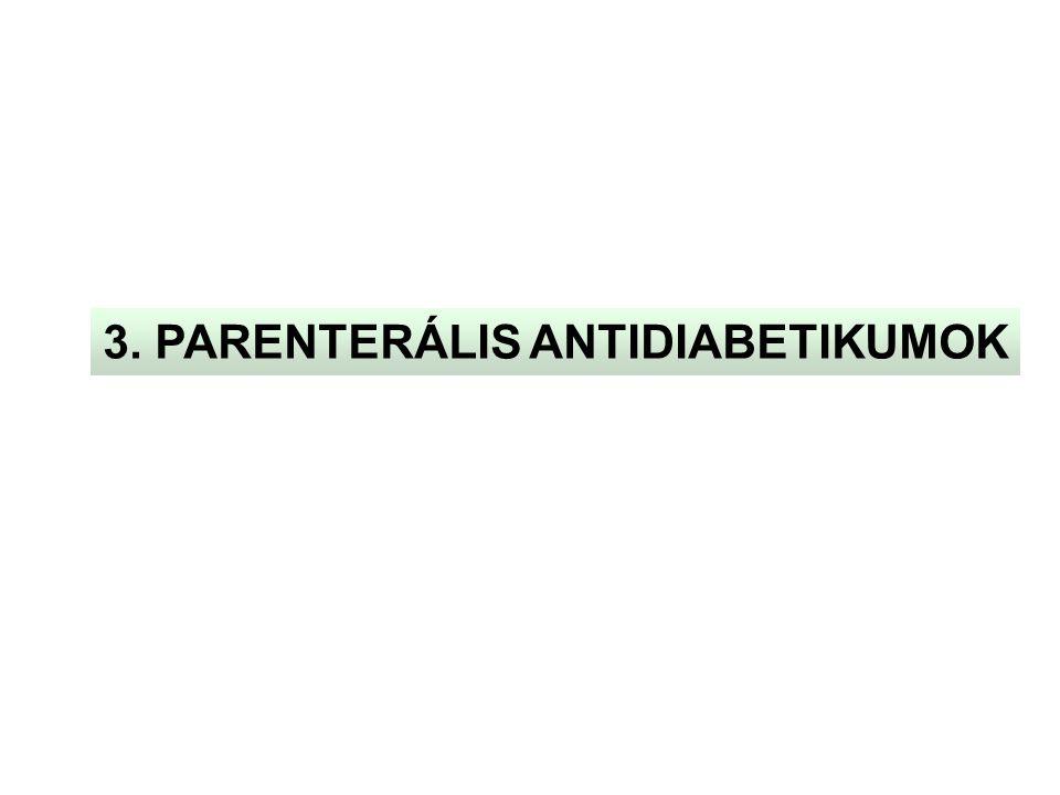 3. PARENTERÁLIS ANTIDIABETIKUMOK