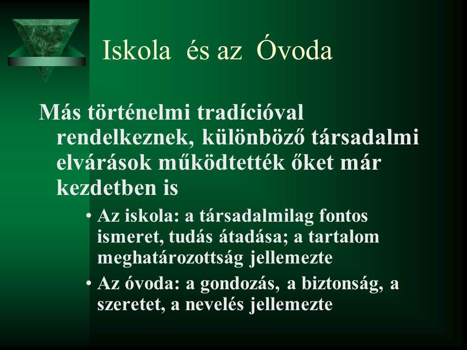 A magyar óvodapedagógia szakmai gyökerei Tanulságok, melyek túlélték a elmúlt 188 évet.