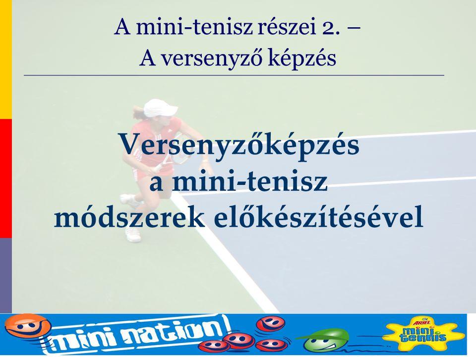 evolve9 Mike Barrell Budapest October 2005 Versenyzőképzés a mini-tenisz módszerek előkészítésével A mini-tenisz részei 2.