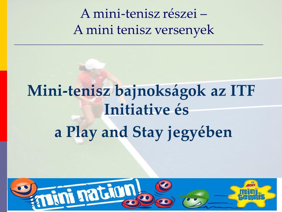 evolve9 Mike Barrell Budapest October 2005 Mini-tenisz bajnokságok az ITF Initiative és a Play and Stay jegyében A mini-tenisz részei – A mini tenisz versenyek