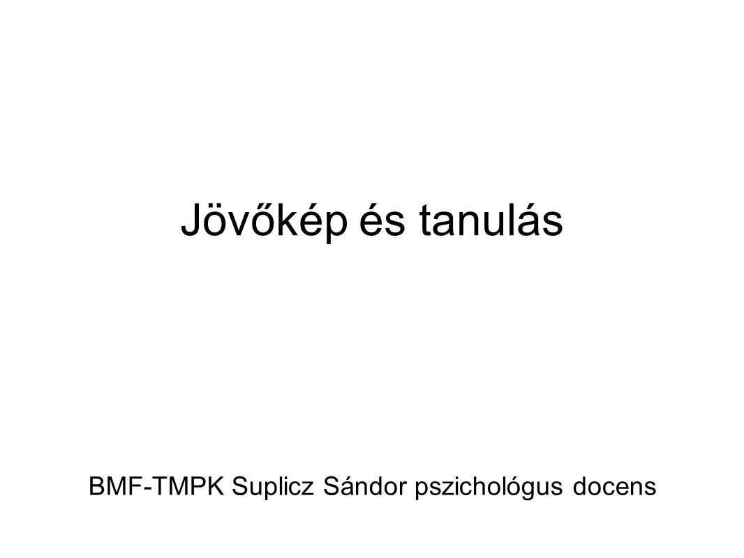 Jövőkép és tanulás BMF-TMPK Suplicz Sándor pszichológus docens