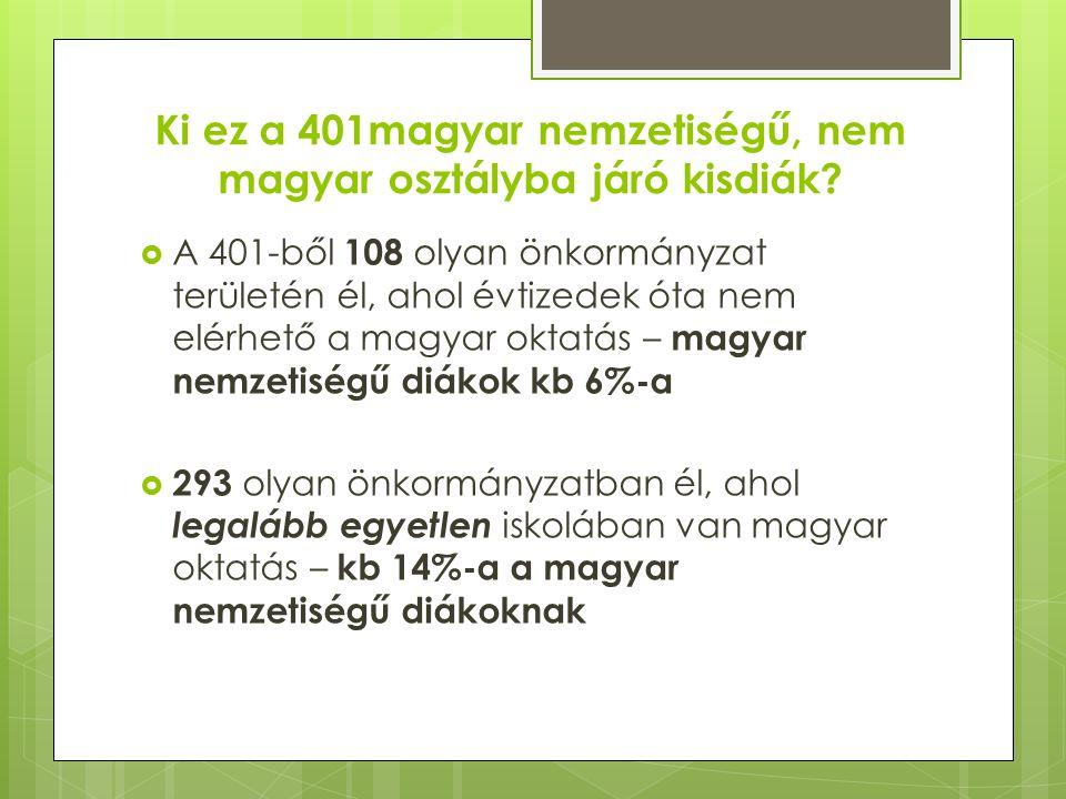 Ki ez a 401magyar nemzetiségű, nem magyar osztályba járó kisdiák.