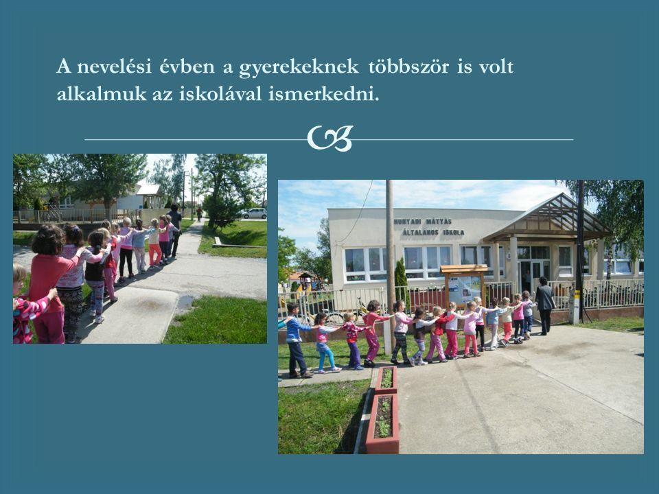  A nevelési évben a gyerekeknek többször is volt alkalmuk az iskolával ismerkedni.
