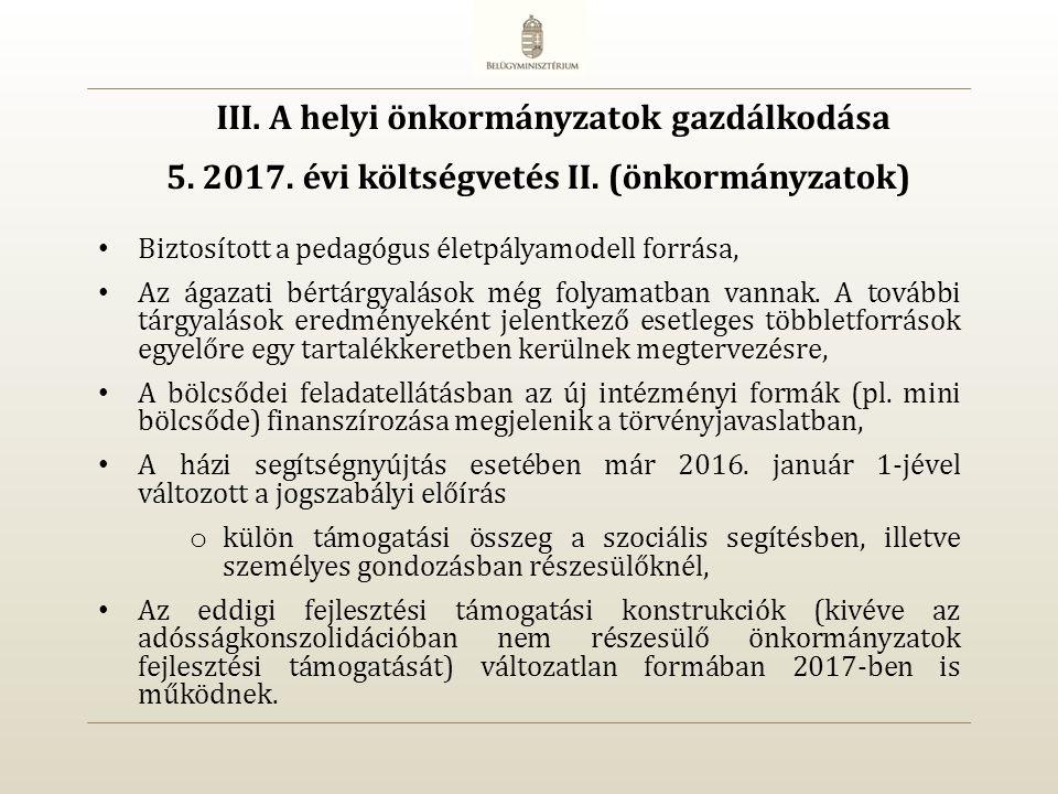 5. 2017. évi költségvetés II.