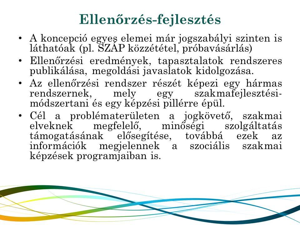 Ellenőrzés-fejlesztés A koncepció egyes elemei már jogszabályi szinten is láthatóak (pl.