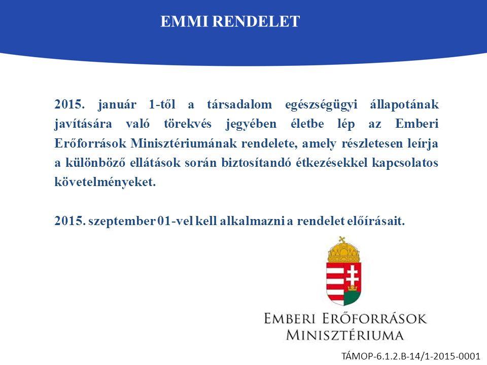 EMMI RENDELET TÁMOP-6.1.2.B-14/1-2015-0001 2015.