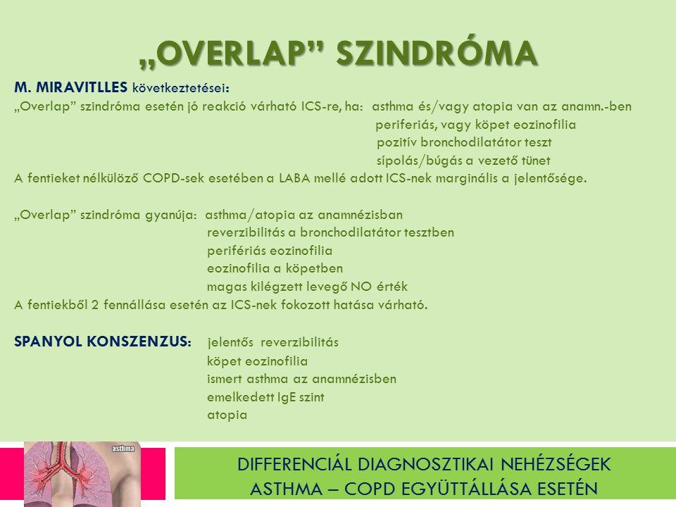 """DIFFERENCIÁL DIAGNOSZTIKAI NEHÉZSÉGEK ASTHMA – COPD EGYÜTTÁLLÁSA ESETÉN """"OVERLAP SZINDRÓMA M."""