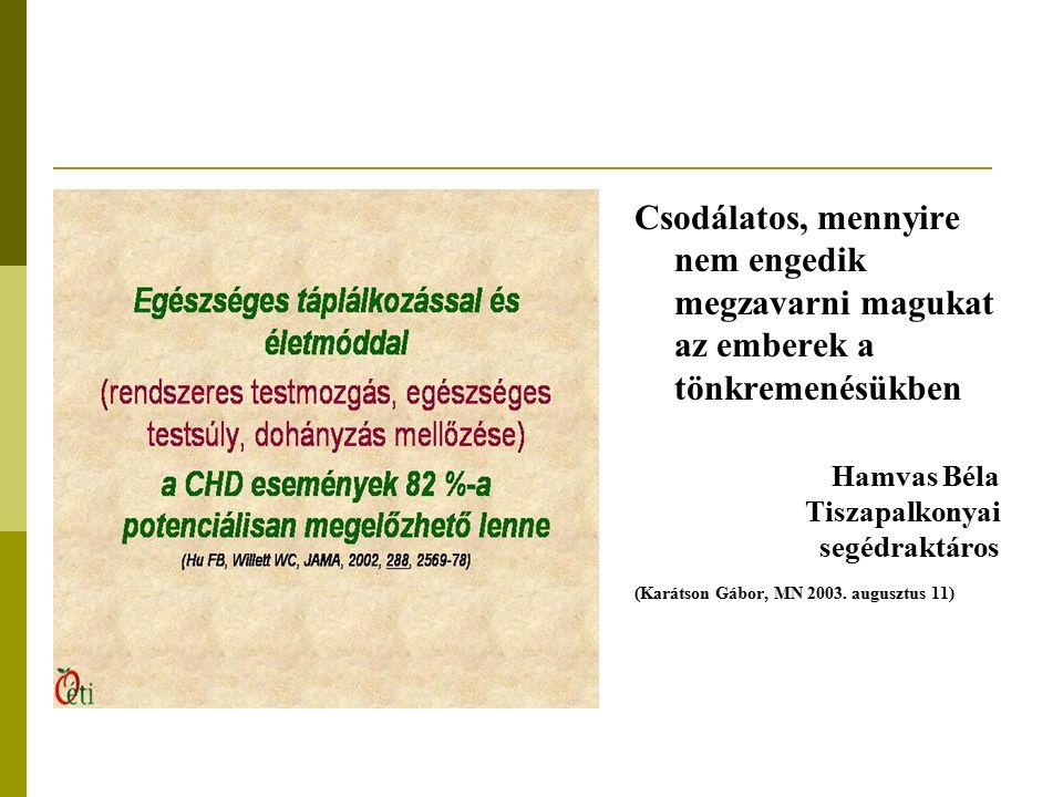 Csodálatos, mennyire nem engedik megzavarni magukat az emberek a tönkremenésükben Hamvas Béla Tiszapalkonyai segédraktáros (Karátson Gábor, MN 2003.