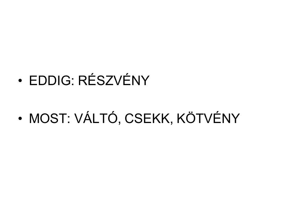 b.Magyar Államkötvény - A Magyar Államkötvény a kötvényről szóló 285/2001.