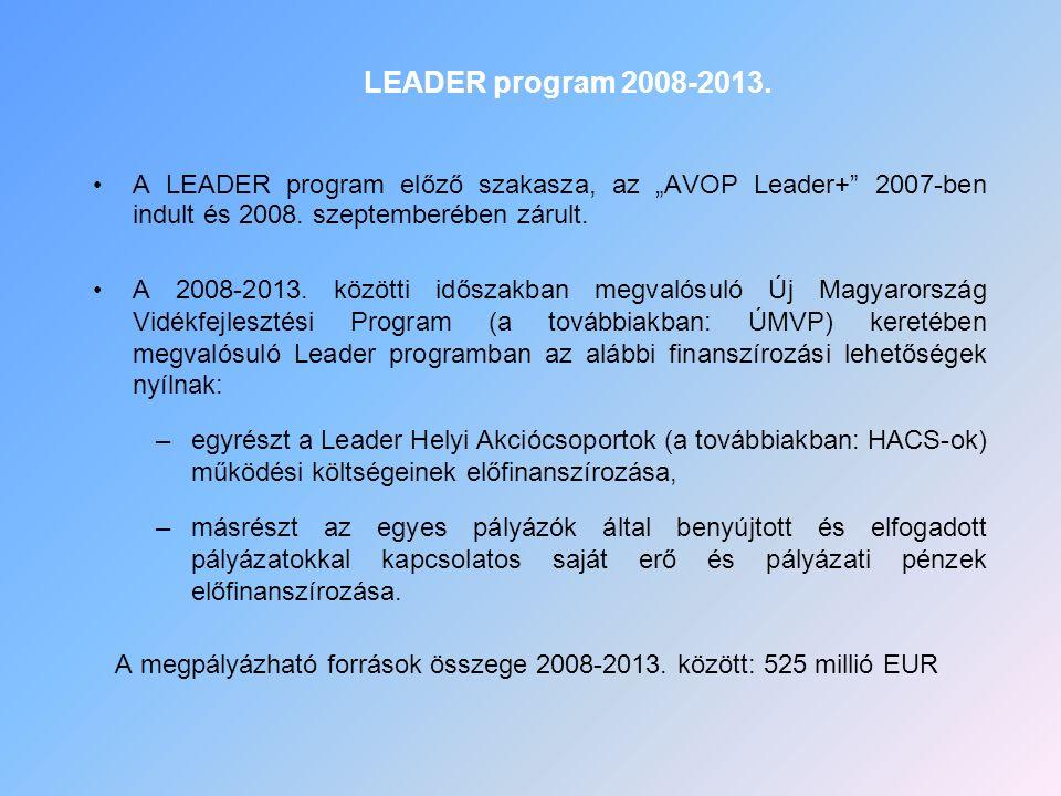 """A LEADER program előző szakasza, az """"AVOP Leader+"""" 2007-ben indult és 2008. szeptemberében zárult. A 2008-2013. közötti időszakban megvalósuló Új Magy"""