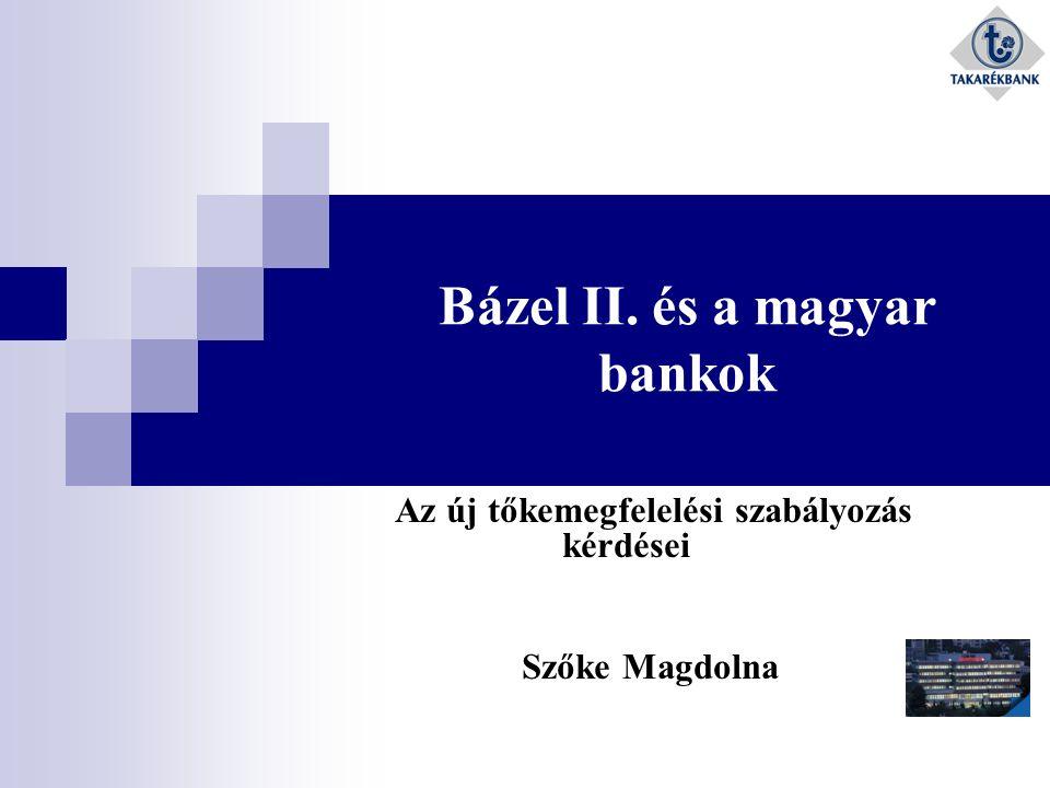 Bázel II. és a magyar bankok Az új tőkemegfelelési szabályozás kérdései Szőke Magdolna