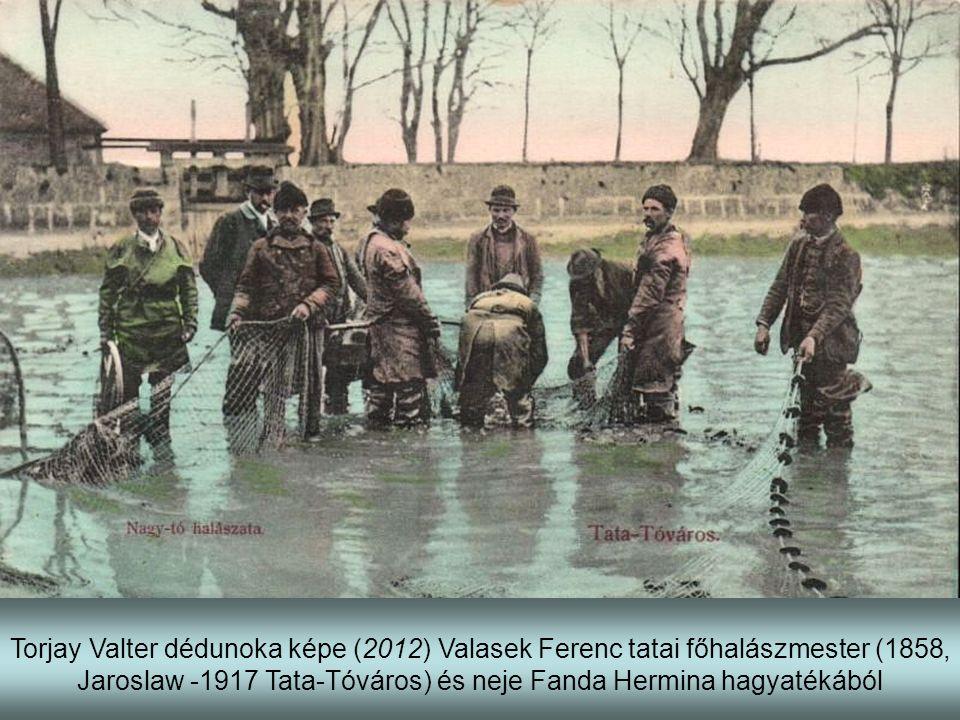 Torjay Valter dédunoka képe (2012) Valasek Ferenc tatai főhalászmester (1858, Jaroslaw -1917 Tata-Tóváros) és neje Fanda Hermina hagyatékából