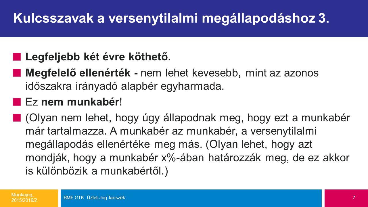 Jogeset Szerkesztő riporter munkabére (Mfv.I.10.122/2007/3.szám) Munkajog, 2015/2016/2.