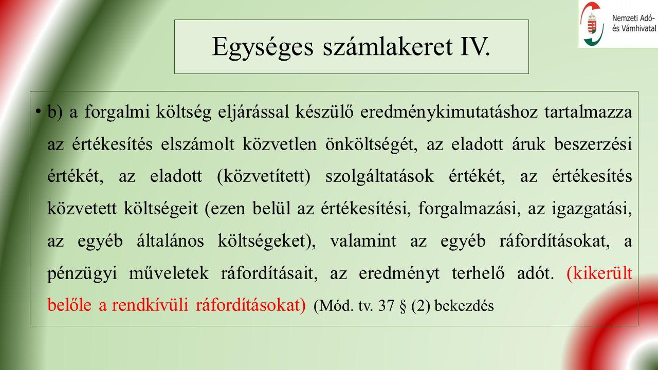 Egységes számlakeret IV.
