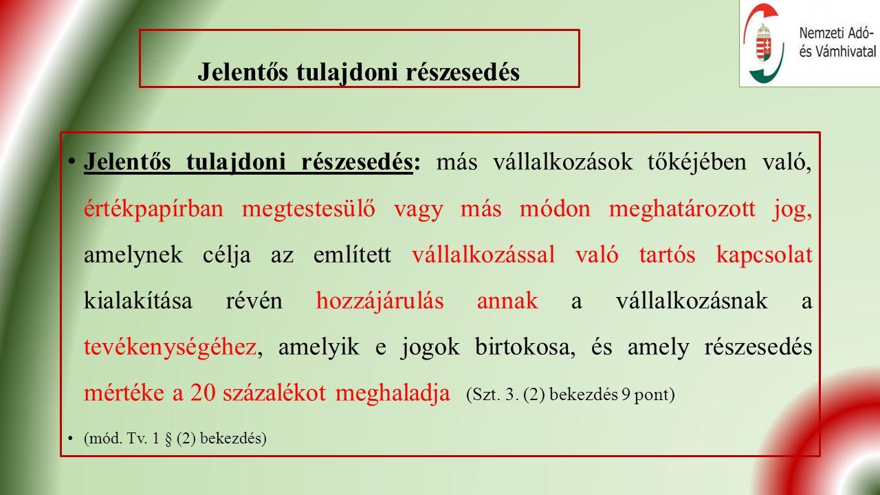 Új mérlegtételek II.Az Szt. 27.