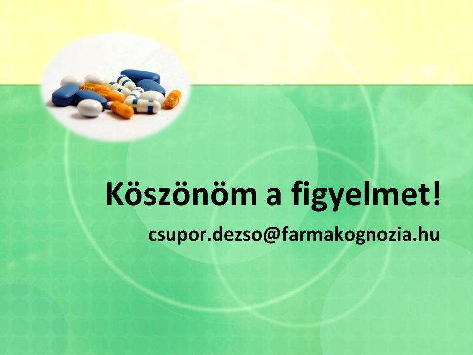 Köszönöm a figyelmet! csupor.dezso@farmakognozia.hu