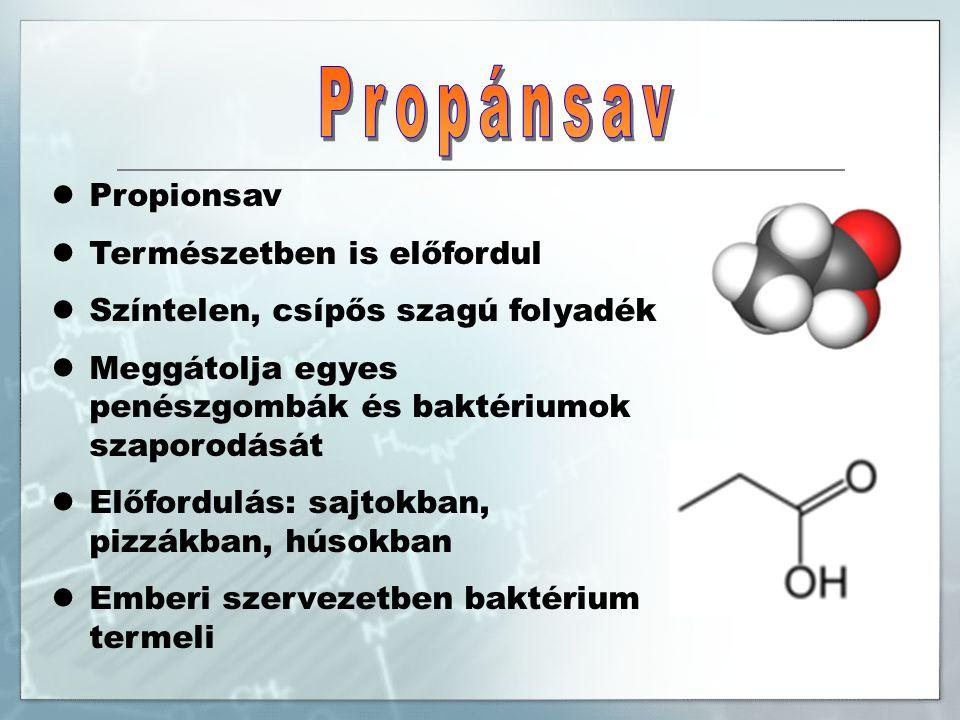 Szőlősav, 2,3- dihidroxibutándisav Szerves sav, fehér kristályokat alkot Előfordulás: elsősorban szőlőben, egyike a borokban megtalálható legfontosabb savaknak Felhasználás: élelmiszeradalékként, savanyúságot szabályozó szerként