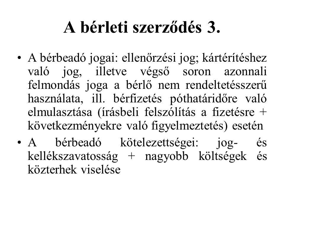 A bérleti szerződés 3.