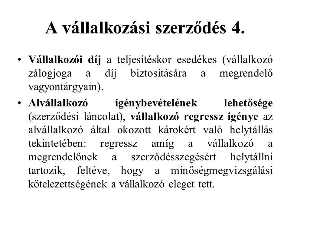 A vállalkozási szerződés 4.