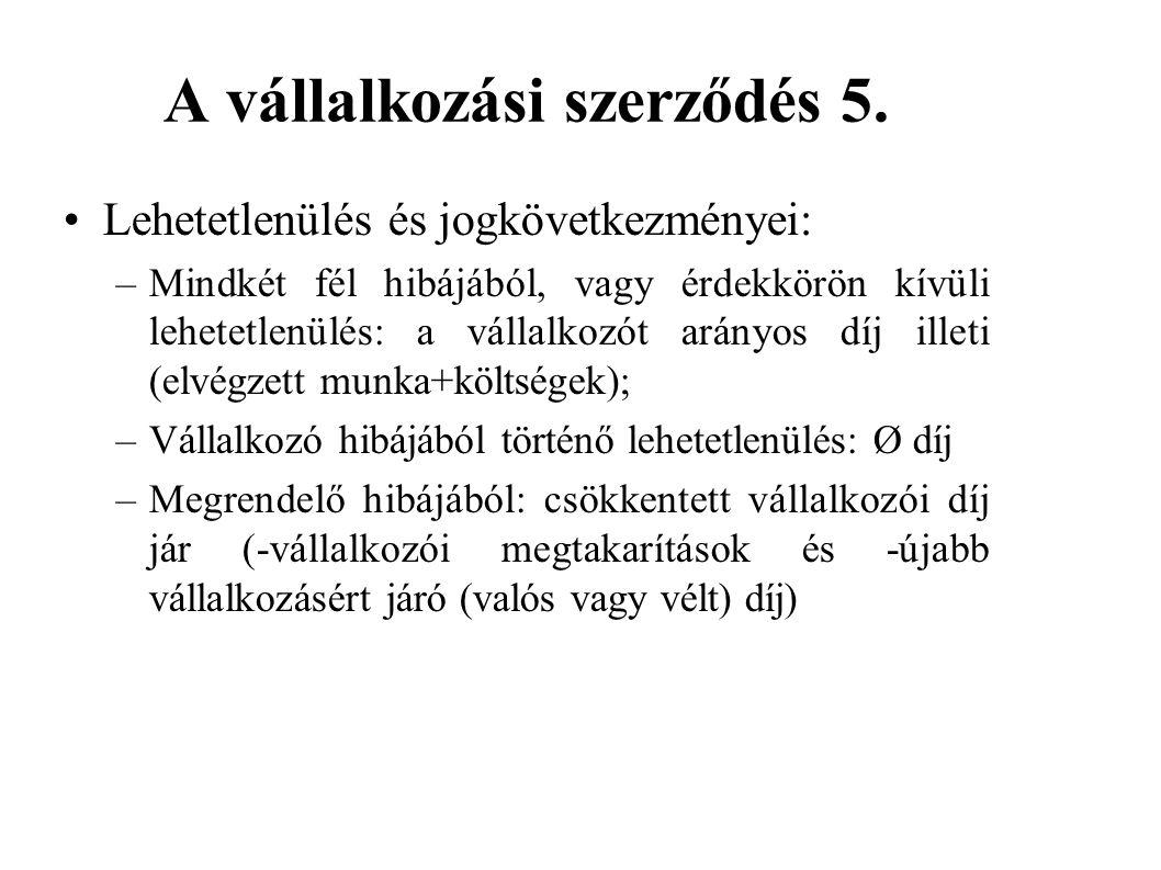 A vállalkozási szerződés 5.