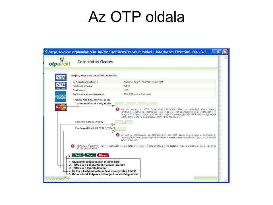 Az OTP oldala