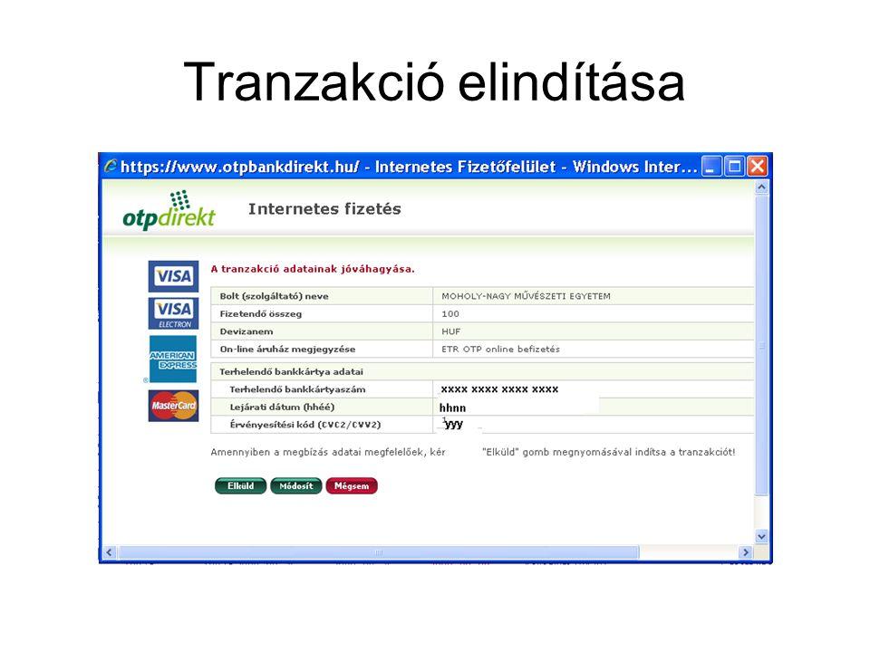 Tranzakció elindítása