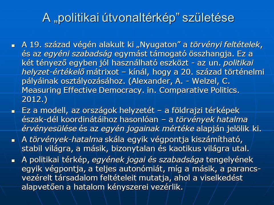 """A """"politikai útvonaltérkép születése A 19."""
