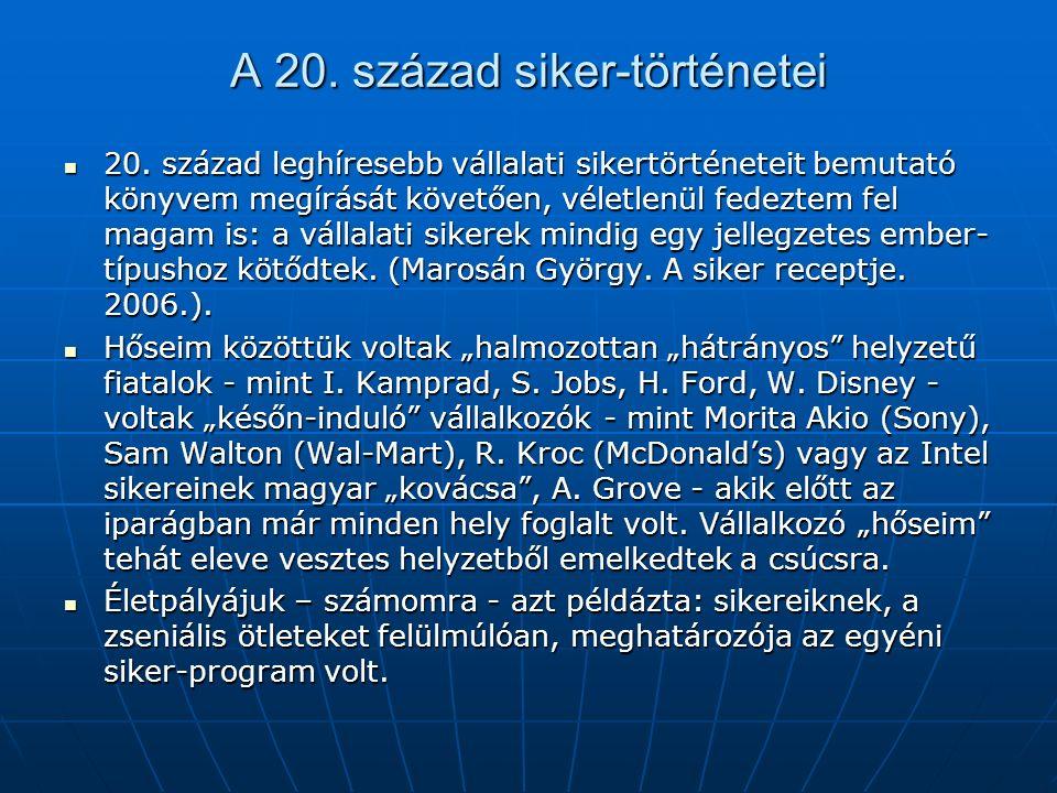 A 20. század siker-történetei 20.