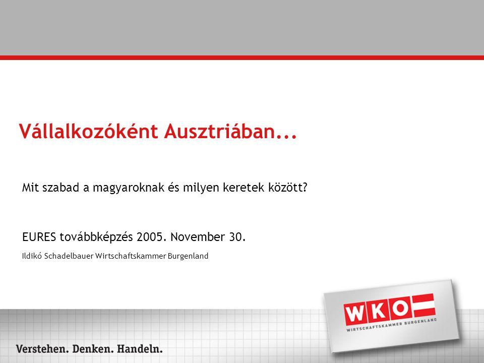 """Vállalkozóként Ausztriában Osztrák cégalapítás """"cégalapítási jog Magyarország-i vállalkozás """"szolgáltatások szabad áramlása"""