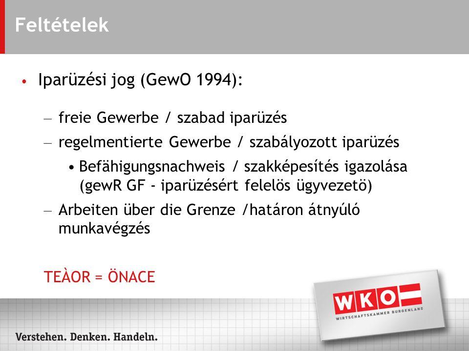 Társasági formák – Personengesellschaften (OEG, KEG, OHG, KG) Személyügyi társaságok (kkkt, kbt, kkt, bt) – Kapitalgesellschaften (GmbH, AG) /Gazdasági társaságok (KFT, Részvénytársaság) – Zweigniederlassung / Fióktelep – Töchter/Mütter / Leány- anyavállalatok