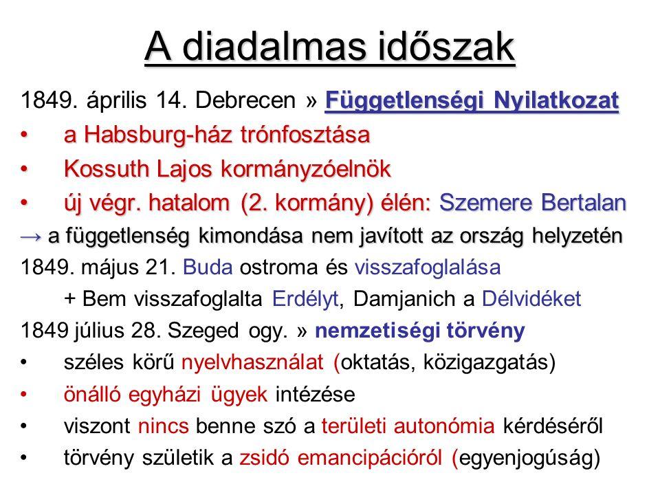 A diadalmas időszak Függetlenségi Nyilatkozat 1849. április 14. Debrecen » Függetlenségi Nyilatkozat a Habsburg-ház trónfosztásaa Habsburg-ház trónfos