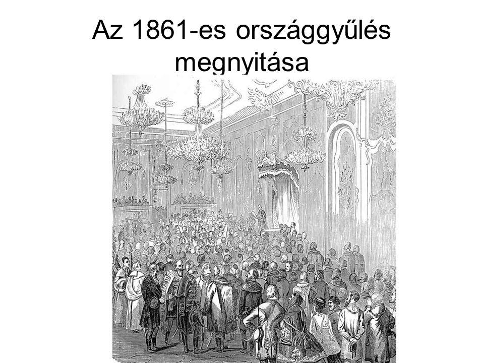 Az 1861-es országgyűlés megnyitása